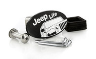 Jeep Life Matte Black Powder Coated Hitch Cover