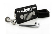 It's a Jeep Thing Matte Black Powder Coated Rectangular Hitch Cover