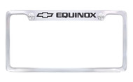 Chrome Plated Brass License Plate Frame with Epoxy Filled Equinox Wordmark