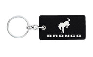 Ford Bronco Leather Key Chain with UV Printed Logo_ Rectangle Shape
