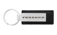 Ford Bronco Black Leather Keychain