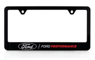 Ford Performance UV Printed Black Plastic License Frame _ Wide Bottom Frame