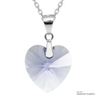 Provence Lavender Xilion Heart Necklace Embellished with Swarovski Crystals (NE3R-283)
