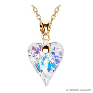 Crystal Aurore Boreale Wild Heart Necklace Embellished with Swarovski Crystals (NE4G-001AB)