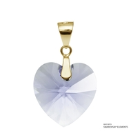 Provence Lavender Xilion Heart Pendant Embellished with Swarovski Crystals (PE3G-283)