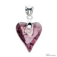 Antique Pink Wild Heart Pendant Embellished with Swarovski Crystals (PE4R-001ANTP)