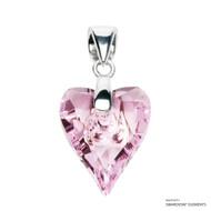 Rosaline Wild Heart Pendant Embellished with Swarovski Crystals (PE4R-508)