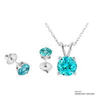 Necklace + Earring Made with Swarovski Zirconia (SNEZ2-29487)