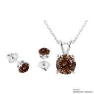 Necklace + Earring Made with Swarovski Zirconia (SNEZ2-31266)