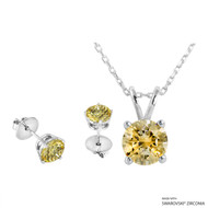 Necklace + Earring Made with Swarovski Zirconia (SNEZ2-31464)