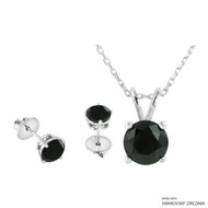 Necklace + Earring Made with Swarovski Zirconia (SNEZ2-31517)
