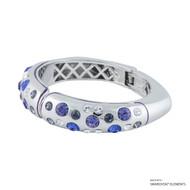 Starlit Bangle Embellished with Swarovski Crystals