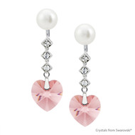 Charming Earring Embellished with Swarovski Crystals