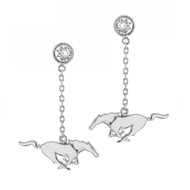 Ford Mustang Pony Earrings Embellished with Premium Crystals