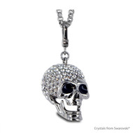 Skull Necklace Embellished with Swarovski Crystals