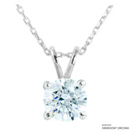 2 Carat White Round Necklace Made with Swarovski Zirconia
