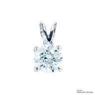 1 Carat White Solitaire Pendant Made with Swarovski Zirconia