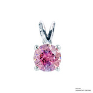 1 Carat Fancy Pink Solitaire Pendant Made with Swarovski Zirconia