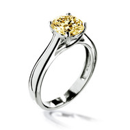 Eternity Love 2 Carat Fancy Yellow Solitaire Ring Made with Swarovski Zirconia