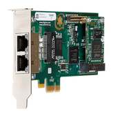 1TE235BF - Two (2) span digital T1/E1/J1/PRI PCI-Express x1 card and hardware echo cancellation (VPM064)