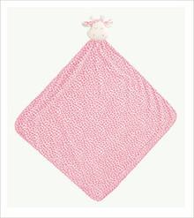 "Angel Dear Animal Napping Blanket PINK GIRAFFE 29""x29"""