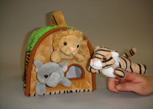 Unipak Plush WILD ANIMAL HOUSE FINGER PUPPET