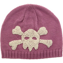 San Diego Hat Co. Baby Toddler Girl PINK SKULL Beanie Knit Cap Hat