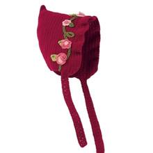 San Diego Hat Co. RED FLOWER PIXIE Beanie Baby Hat Cap Bonnet