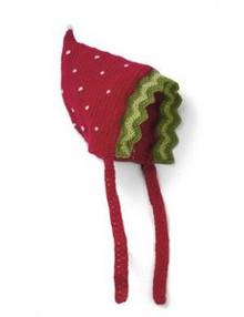 San Diego Hat Co. Baby Kid RED STRAWBERRY Bonnet Hat Cap Beanie