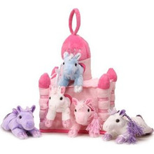 Unipak Plush Toy - HORSES PINK CASTLE HOUSE