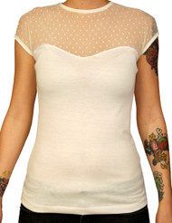 Steady Miss Fancy Top - Ivory
