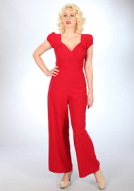 Stop Staring Barcelona Pant Suit - Red