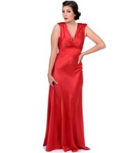 Unique Vintage Harlow Gown - Red