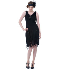 Unique Vintage Hemmingway Flapper - Black