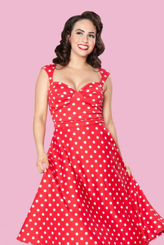 You asked, we delivered!  Our most popular dress will now be available in polka dot!  We have black/white or red/white available!  We also have this style in a variety of colors and fabrics!  Choose the one that is right for you!