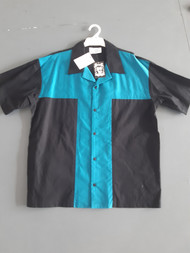 Lennys Mens Shirt - Teal Panel