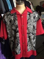 Lennys Mens Shirt - Red Pineapples