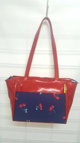 Vintage Chics Jess Bag - Navy Cherries