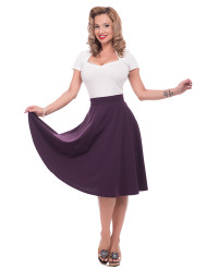 Steady High Waist Thrills Skirt - Purple