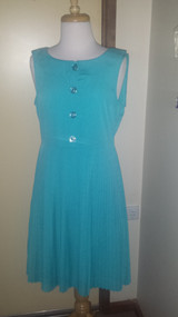 Pleat collar dress
