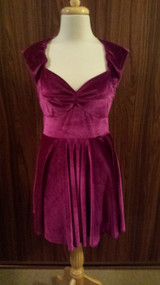 MINK PINK maroon velvet dress