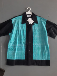 Lennys Mens Shirt - Teal Check Panel