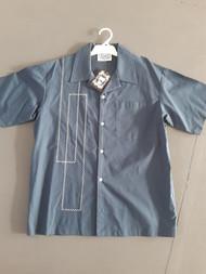 Lennys Mens Shirt - Navy Embroidered