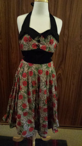 HELL BUNNY Leopard and Roses dress