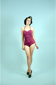 Beach Bash Sophia Swimsuit - Wine