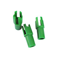 "Green Chairs - Screed bar support system reduces fill volume by 85%.  Chairs are designed to be used with light-weight screeds like the Spin Screed and ¼ x 2"" flat steel bar."