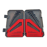 SAE and Metric Hex Key Set With Storage Case (30pc)
