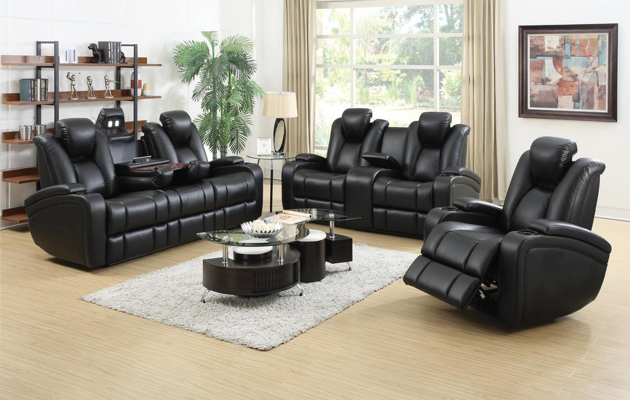 Delange Power Reclining Sofa Led Usb And More Add Love Seat And