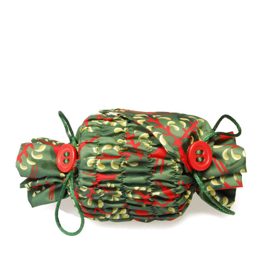 Small 'Crackle' in Holly Green / Red.   Used here to wrap a multi-wick candle.