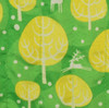 Fabric close-up - Winter Trees print in Neon Yellow.